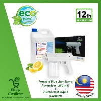 [ LOCAL READY STOCK ]  Portable Blue Light Nano Automizer [ LW0144 ] & Disinfectant Liquid [ LW0089 ] Eco friend